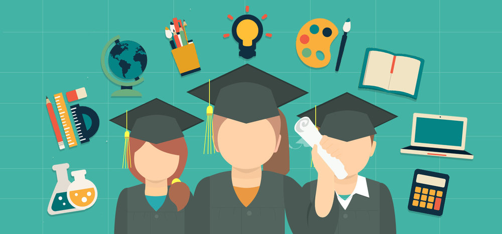 Smartly Degree Holders Graduation Cartoon